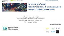 """CAHIER DE DOLÉANCES – Roundtable on """"Pubblica Illuminazione – il punto di vista degli esperti"""""""
